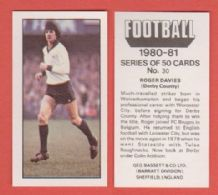 Derby County Roger Davies 30